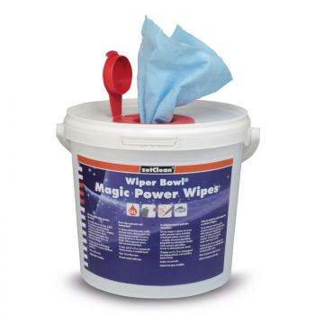 Wiper Bowl® Magic Power Wipes im Spendereimer
